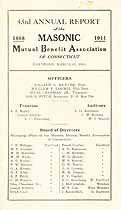 Thumbnail image of Connecticut Masonic Mutual Benefit Assoc 43rd Report cover