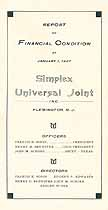Thumbnail image of Simplex Universal Joint 1927 Annual Report cover