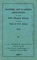 Thumbnail image of Masters and Wardens Association 1935 Roster cover