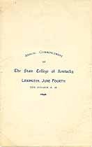 Thumbnail image of Kentucky State College 1896 Commencement cover