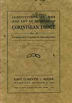 Thumbnail image of Corinthian Lodge, No. 59, I.O.O.F. Members for 1917 cover