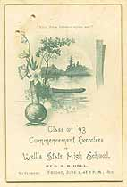 Thumbnail image of Well's State High School 1893 Commencement cover