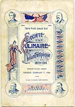 Thumbnail image of New York Societe Culinaire Philanthropique 1905 Ball Program cover