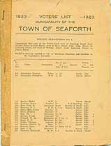 Thumbnail image of Seaforth 1923 Voters' List cover