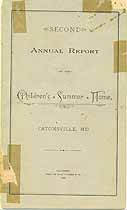 Thumbnail image of Children's Summer Home 1893 Report cover