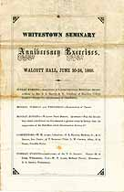 Thumbnail image of Whitestown Seminary 1869 Anniversary Exercises cover