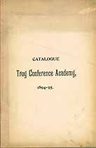 Thumbnail image of Troy Conference Academy 1894-95 Catalogue cover