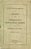 Thumbnail image of Penn. Scotch-Irish Society 1898 Meeting and Banquet cover