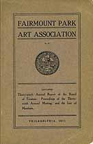 Thumbnail image of Fairmount Park Art Association 1911 Report cover