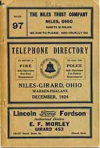 Thumbnail image of Niles-Girard 1924 Telephone Directory cover