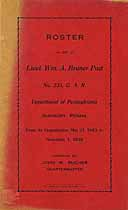 Thumbnail image of G. A. R. Bruner Post No. 335 Roster cover