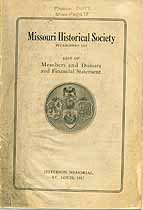 Thumbnail image of Missouri Historical Society 1917 Member List cover