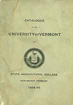 Thumbnail image of University of Vermont 1894-95 Catalogue cover