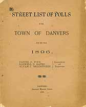 Thumbnail image of Danvers 1896 Town Poll Taxes cover