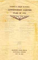 Thumbnail image of Nashua High School 1924 Commencement cover