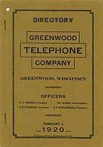 Thumbnail image of Greenwood 1920 Directory cover