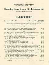 Thumbnail image of Blooming Grove Mutual Fire Ins. Co. 1917-18 Losses cover