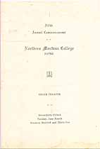 Thumbnail image of Northern Montana College 1935 Commencement cover