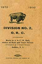 Thumbnail image of Division No. 2, O. R. C. Roster (1872-1910) cover