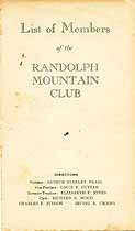 Thumbnail image of Randolph Mountain Club (1928-1929) Members cover