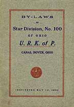Thumbnail image of Star Division No. 100, U. R. K. of P. 1912 Roster cover