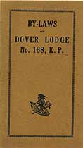Thumbnail image of Dover Lodge, No. 168, K. P. cover