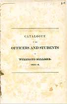 Thumbnail image of Williams College 1835-6 Catalogue cover