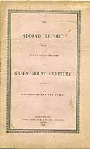Thumbnail image of Green Mount Cemetery 1843 Report cover