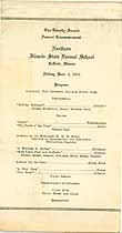 Thumbnail image of Northern Illinois State Normal School 1921 Commencement cover