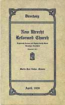Thumbnail image of New Utrecht Reformed Church 1929 Directory cover