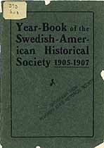 Thumbnail image of Swedish-American Hist. Society 1905-1907 Year-Book cover