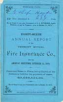 Thumbnail image of Vermont Mutual Fire Ins. 46th Annual Report cover
