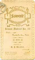 Thumbnail image of Shilo No. 12 School 1899 Souvenir cover