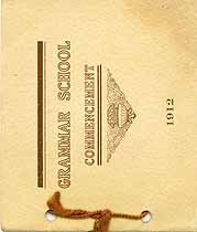 Thumbnail image of Grammar School 1912 Commencement cover