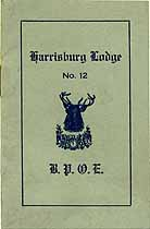 Thumbnail image of Harrisburg Lodge, No. 12, B.P.O.E. 1911 Members cover