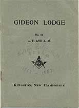 Thumbnail image of Gideon Lodge No. 84 A.F. & A. M. 1929 Members cover