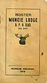 Thumbnail image of Muncie Lodge, No. 245, B.P.O.E. 1918 Roster cover