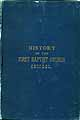 Thumbnail image of History of the First Baptist Church Chicago cover