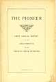 Thumbnail image of The Pioneer, 1st French Creek Pioneers Report cover