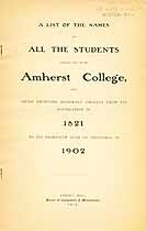 Thumbnail image of Amherst College 1821-1902 Catalogue cover