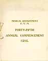 Thumbnail image of U. V. M. Medical Department 1898 Commencement cover
