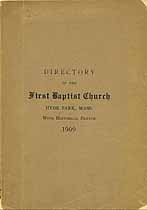 Thumbnail image of First Baptist Church 1909 Directory cover
