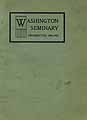 Thumbnail image of Washington Seminary 1900-1901 Catalogue cover