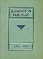 Thumbnail image of Washington Seminary 1901-1902 Catalogue cover