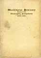 Thumbnail image of Washington Seminary 1920-1921 Catalogue cover