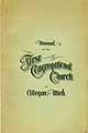 Thumbnail image of Allegan First Congregational Church 1898 Manual cover