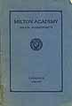 Thumbnail image of Milton Academy 1929-1930 Catalogue cover