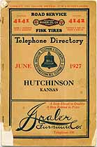 Thumbnail image of Hutchinson (KS) 1927 Telephone Directory cover