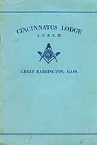 Thumbnail image of Cincinnatus Lodge, F. & A. M. 1931 By-Laws cover