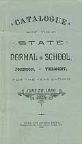 Thumbnail image of Vermont State Normal Schools 1889 Catalogue cover